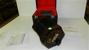 Wheatstone 48 key 1850's Concertina instrument, profess