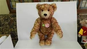 Large original German Steiff teddy bear with tag & butt