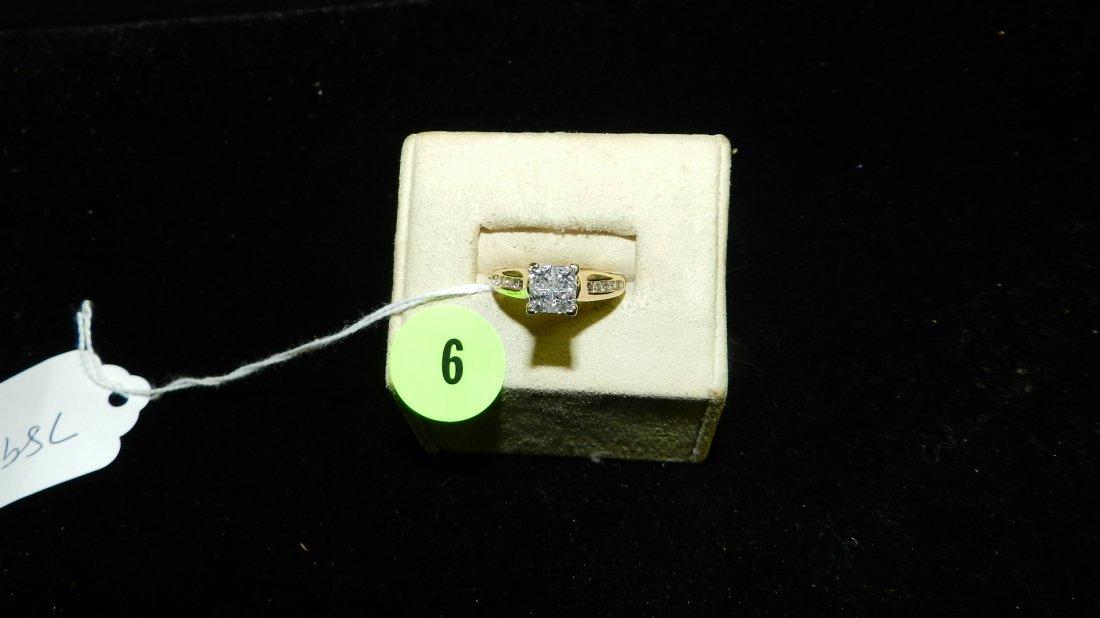 stunning ladies multi Quad Diamond Ring with both round