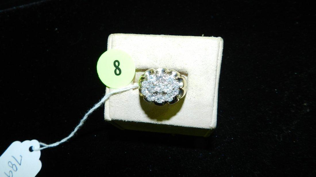 Men's fabulous Gold & Diamond Ring 14KT CTW 2.0 great