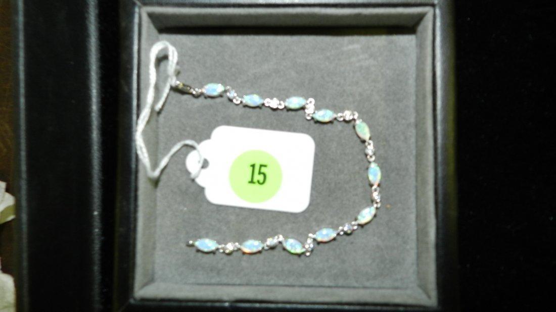great ladies Opal & Zircon Sterling silver Bracelet