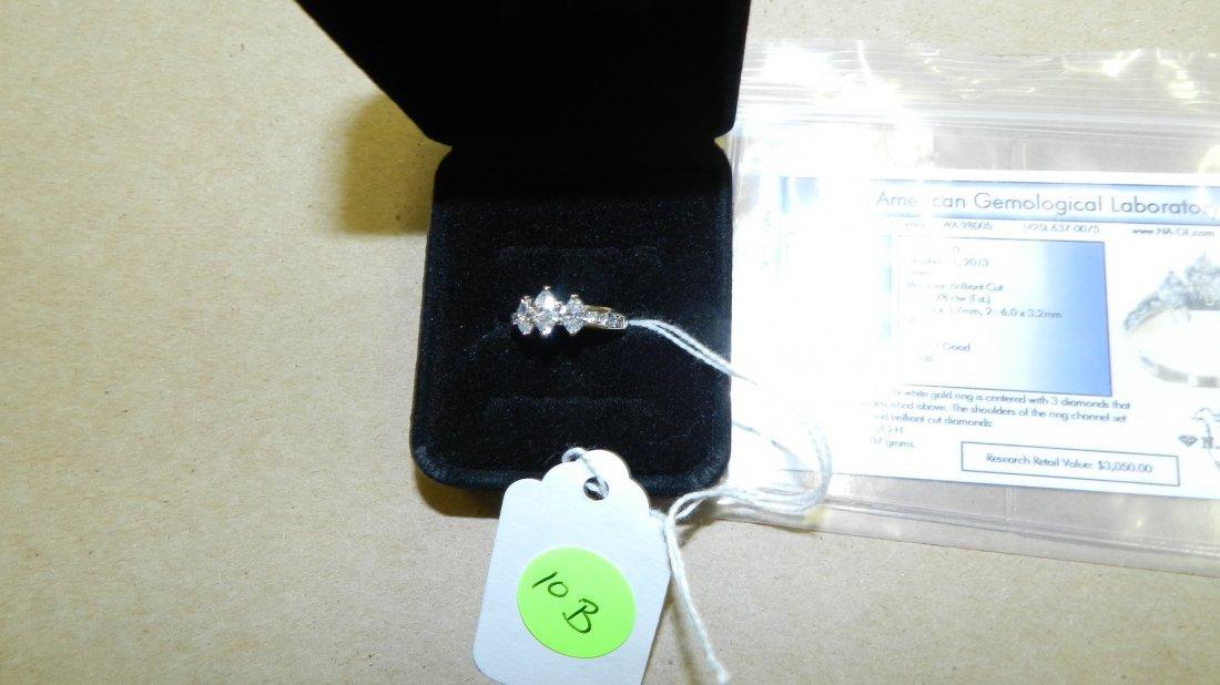 stunning ladies Marquise cut multi diamond ring, 14KT w