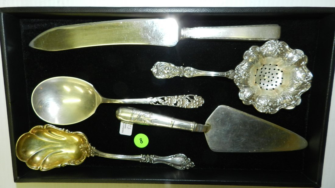 wonderful group of all sterling silver serving items