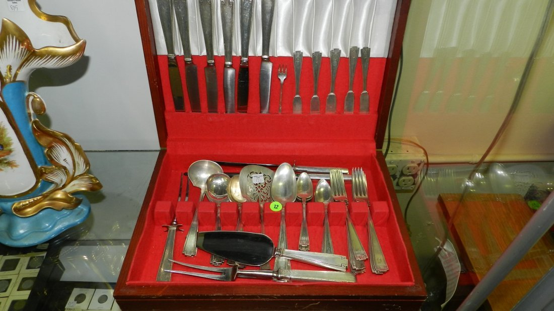 nice sterling silver flatware set in box, by Towle, in