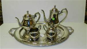 lovely silver plated tae set with tray