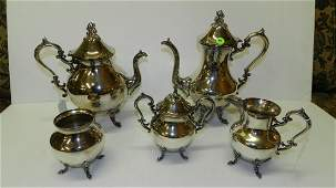 lovely silver plated tae set without tray
