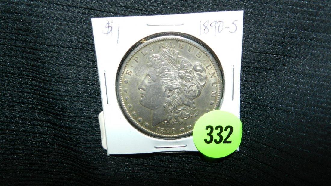 nice US Morgan silver dollar, 1890-S