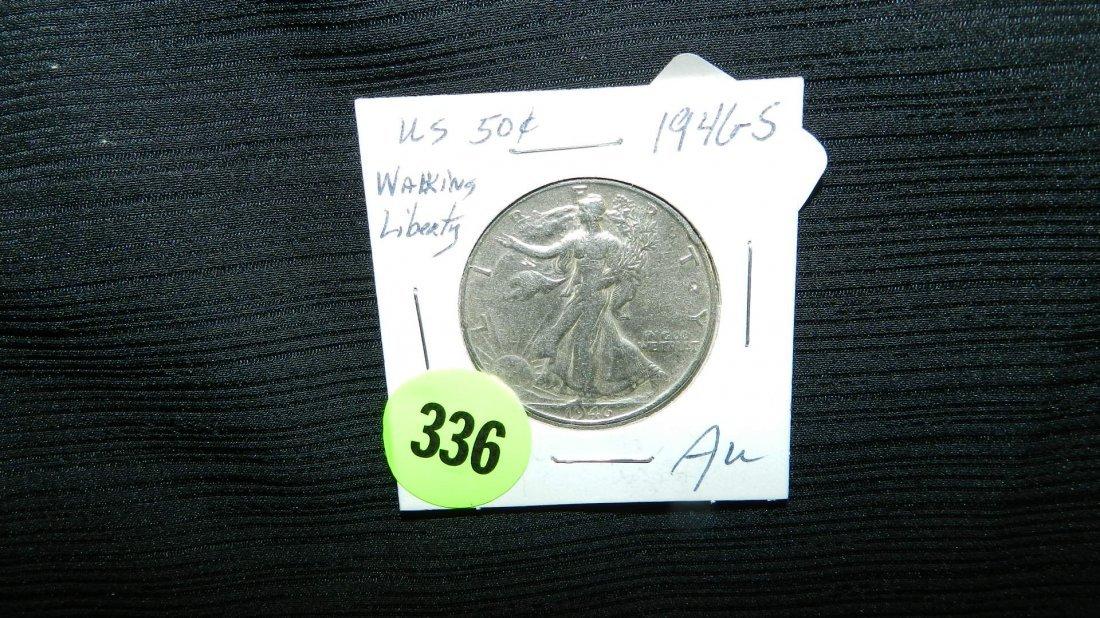 nice US Walking Liberty half dollar 1946-S
