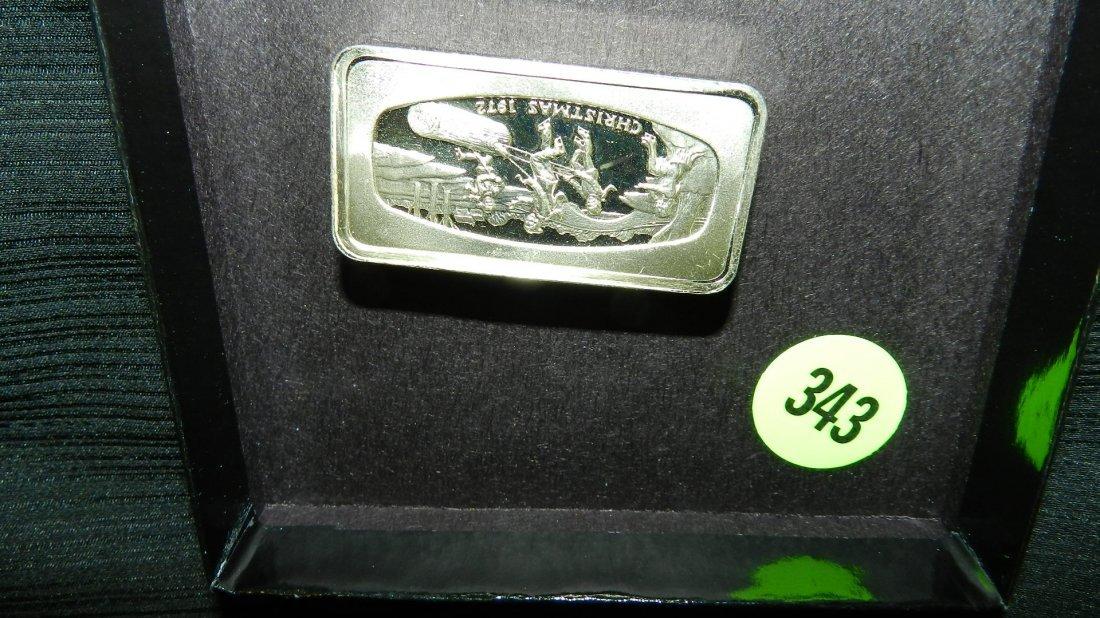 nice US pure 1000 grains fine silver bar (Franklin Mint