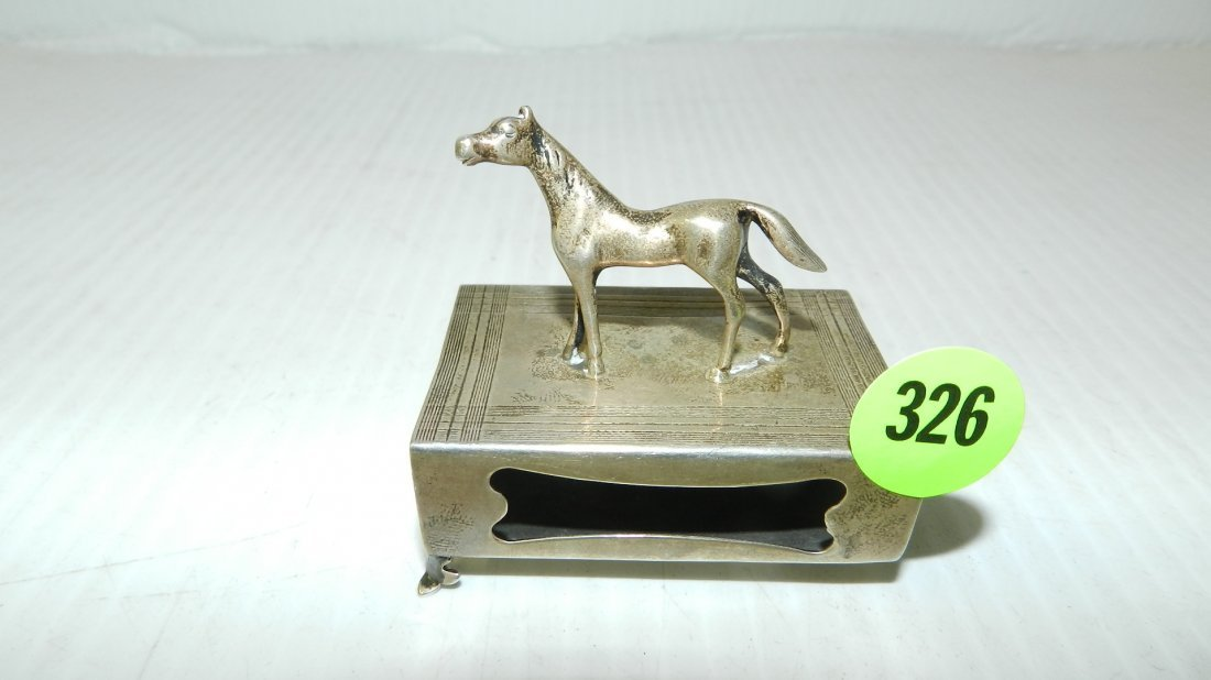 nice sterling silver stamped .925 match box holder with