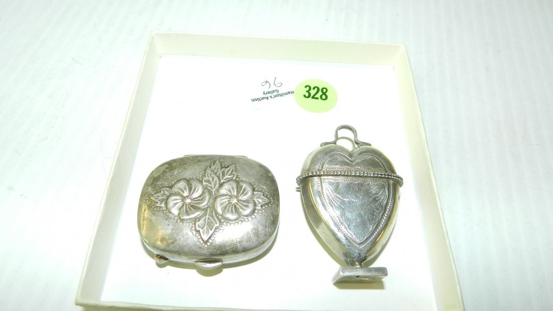 nice 2 piece ladies sterling silver stamped .925 pill /