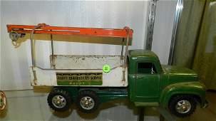 Vintage, metal painted, Buddy L, heavy machinery