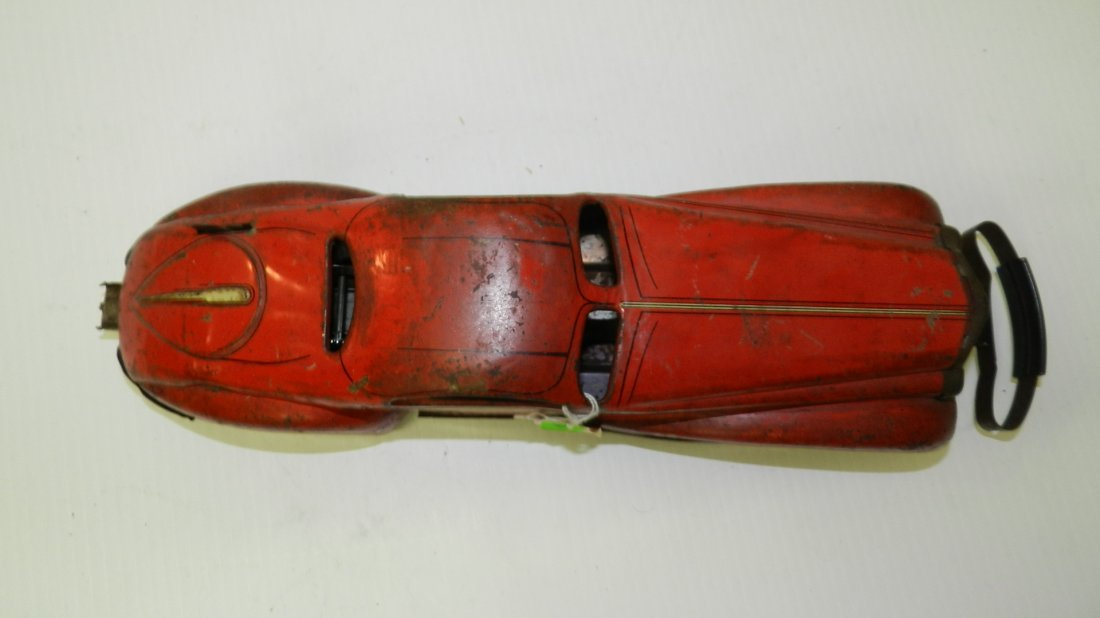 Antique, Marx 1939, wind up tin litho bumper car toy, - 3
