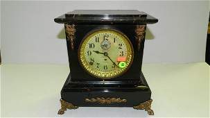 antique faux marble Seth Thomas Automatic 8 day long