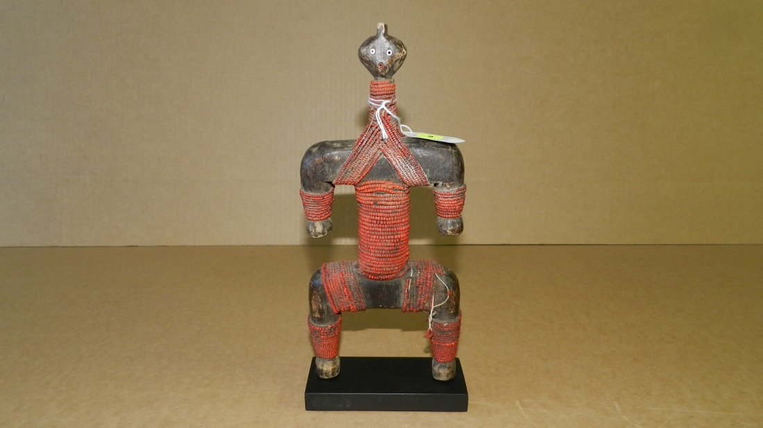 2030) unique African carved and beaded Namji doll
