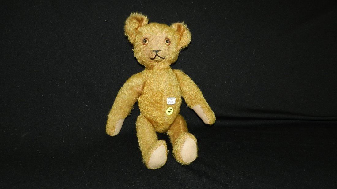 12) Rare antique mohair teddy bear (unmarked) with