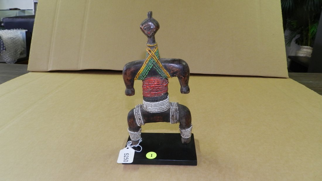 5250) African Namji doll, from Cameroon. 10 1/2""