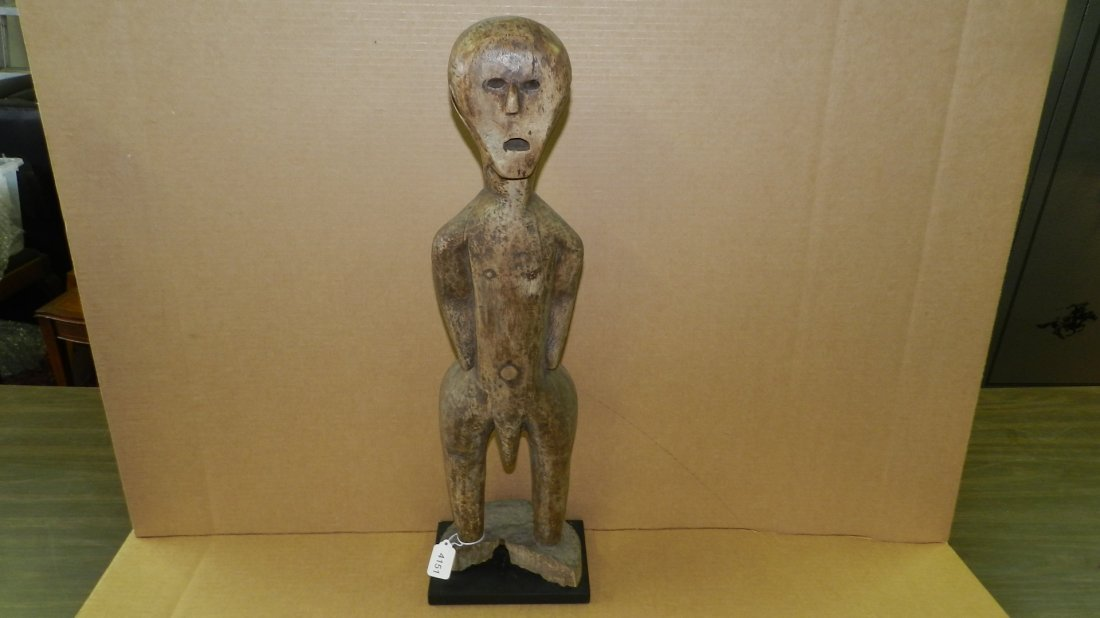 4151) East African carved standing male figure. 26 1/2""