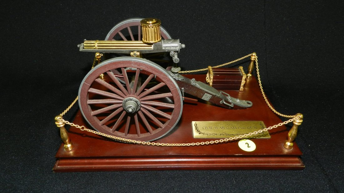 "nice replica ""The Official Civil War Gatling Gun"" on"