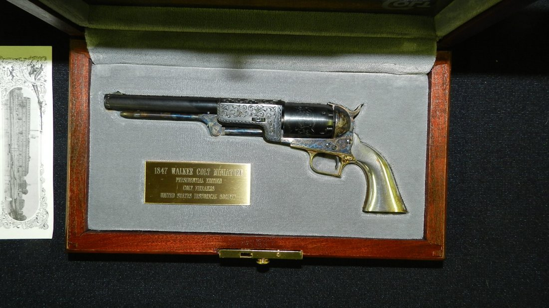 amazing miniature 1847 Walker Colt revolver, by the