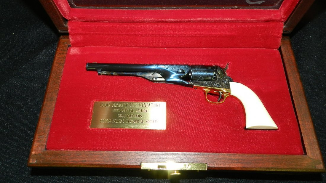 amazing miniature Colt 1860 Army Colt revolver, by the