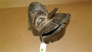 3041) African carved Hemba chimpanzee mask (mwisi gwa