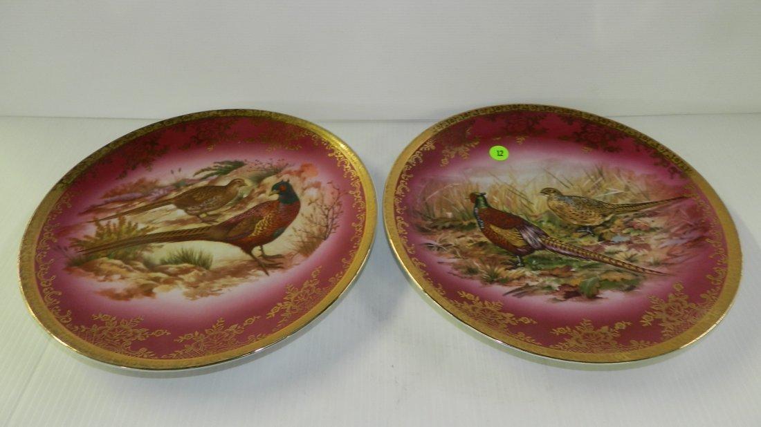 2 piece porcelain bird / Chinese pheasants platters