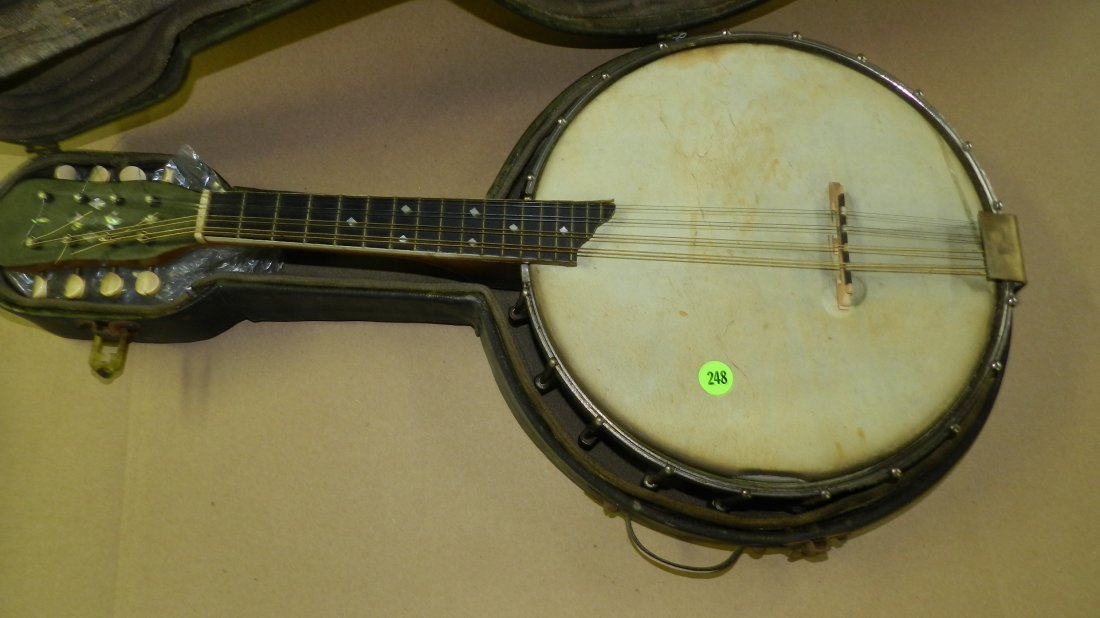 original Vintage S.S.Stewart Mandolin Banjo Banjourine - 2