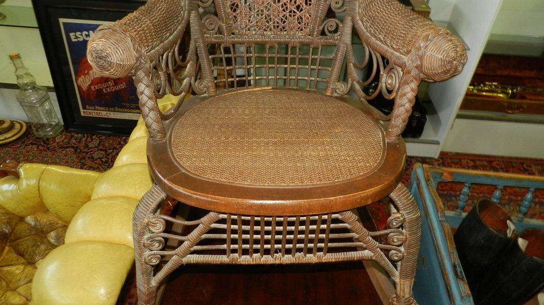 Antique wicker rocking chair, 1800's SSR - 3