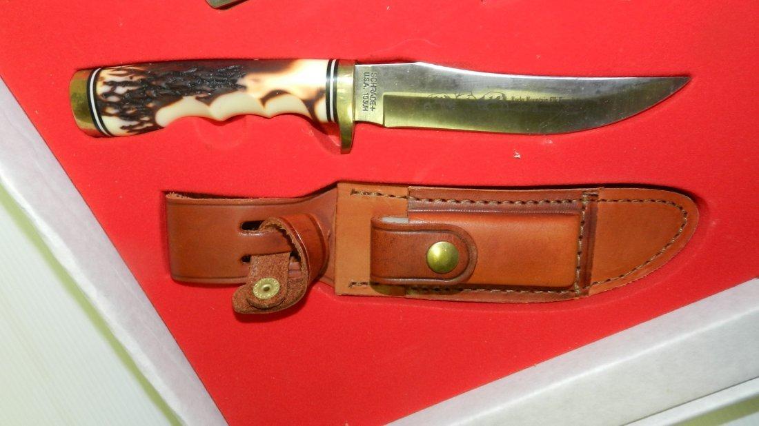 nice Schrade trio knife set in box, unused - 3
