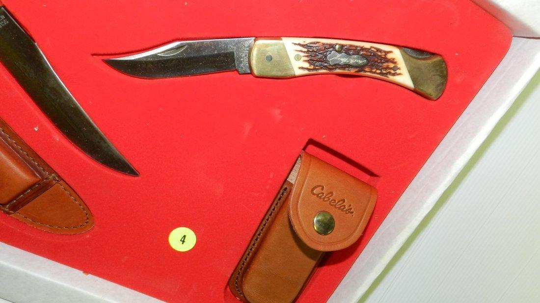 nice Schrade trio knife set in box, unused - 4