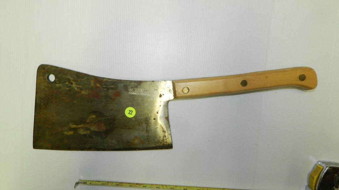 large marked Briddell meat cleaver