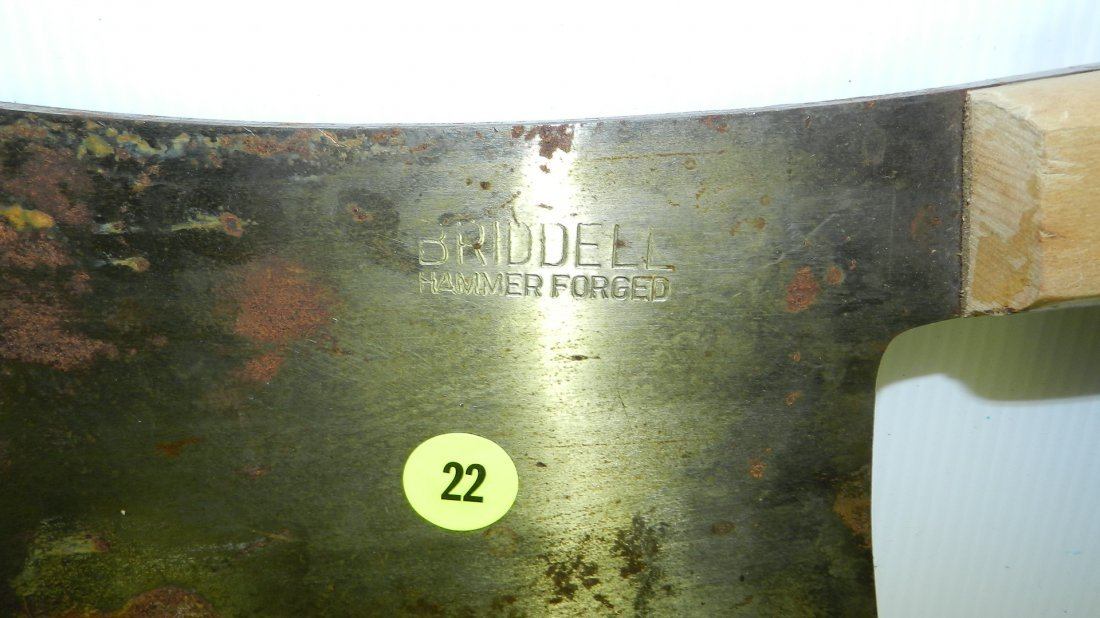 large marked Briddell meat cleaver - 2