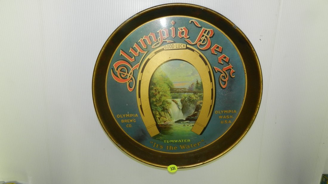 nice original vintage Olympia beer tray with horseshoe