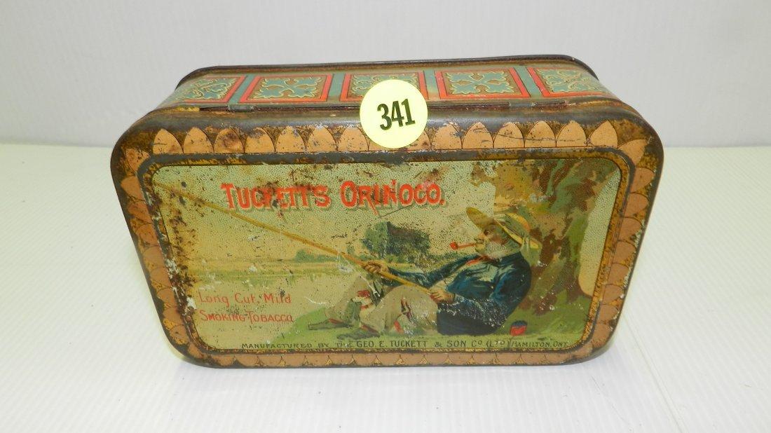 antique Tuckett's smoking tobacco tin with good litho