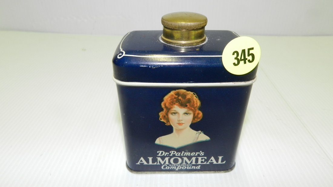 nice antique tin Dr Palmer's Almomeal compound can with