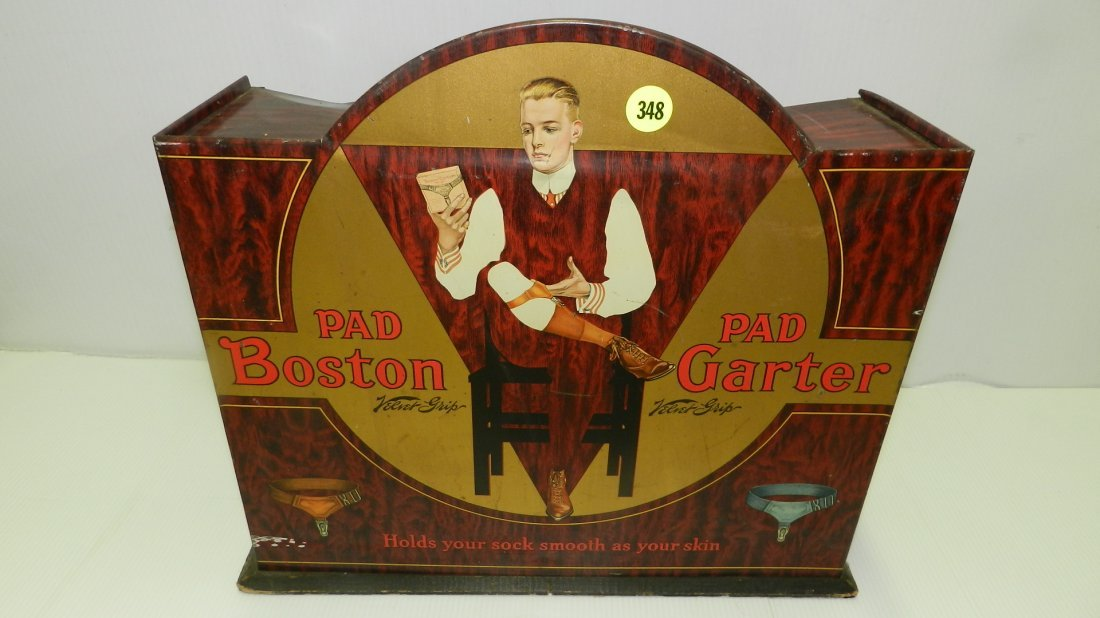 nice antique tin litho advertising display for Pad