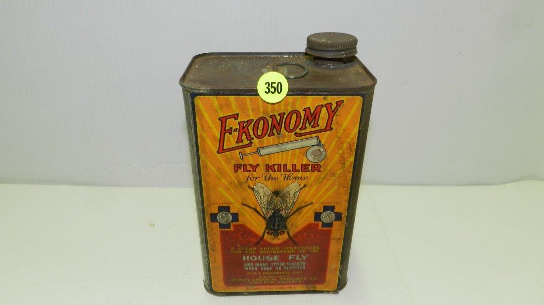 nice antique advertising tin for E-konomy fly killer,
