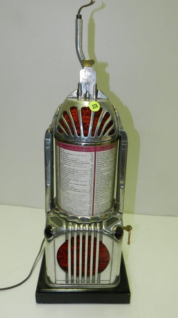 Rare Art Deco Shyvers Multiphone Coin OP Jukebox