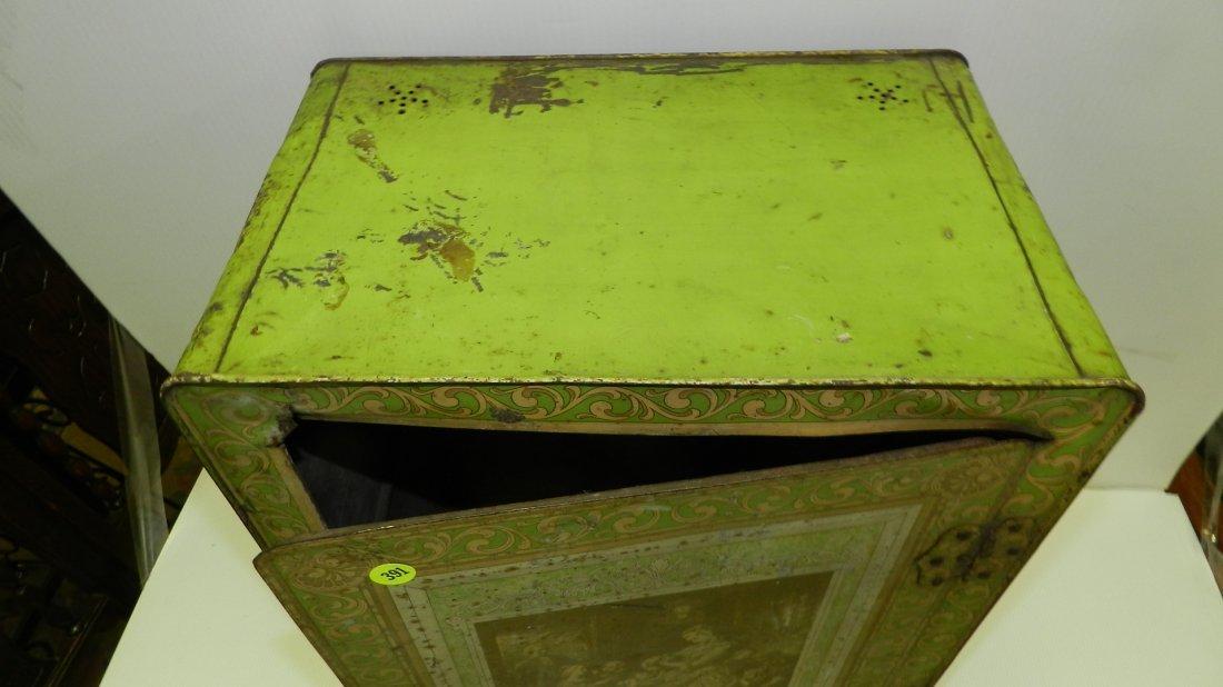 antique tin litho Schepp's bread box, cond Fair, shows - 5