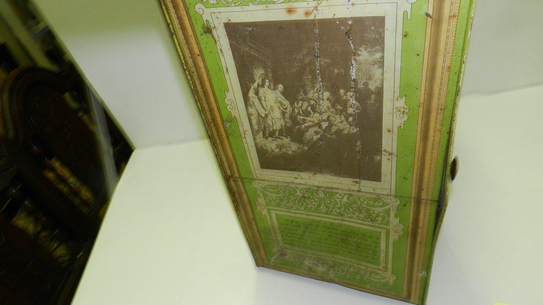 antique tin litho Schepp's bread box, cond Fair, shows - 8