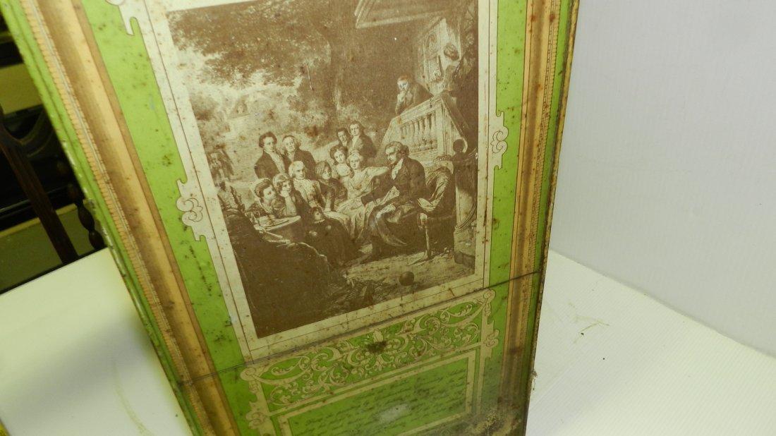 antique tin litho Schepp's bread box, cond Fair, shows - 9