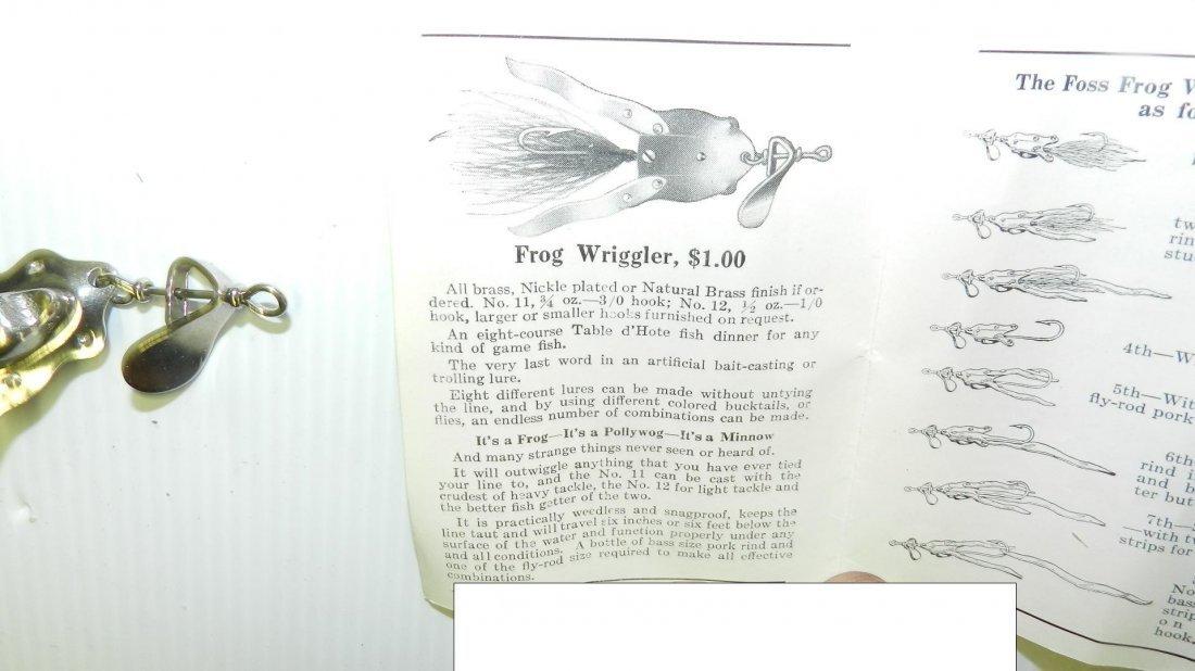 rare 1918 Al Foss Pork Rind Minnow fishing lure in - 5