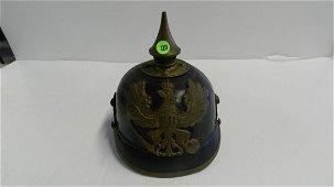 Imperial German Fireman Officers Spiked Helmet