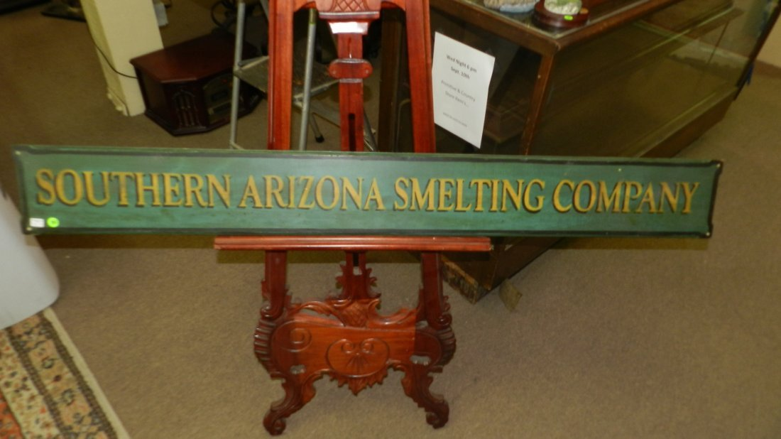 hand painted advertising sign for Southern Arizona