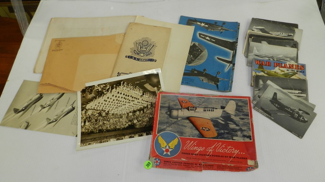collection of WWII photo's, plane cards etc