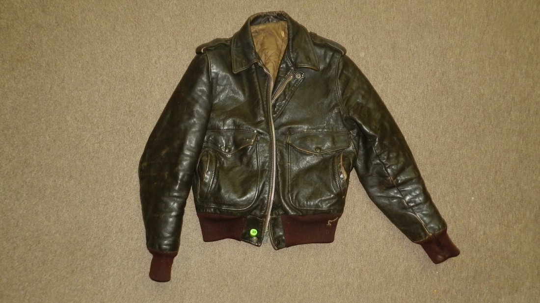 antique / vintage leather motorcycle jacket