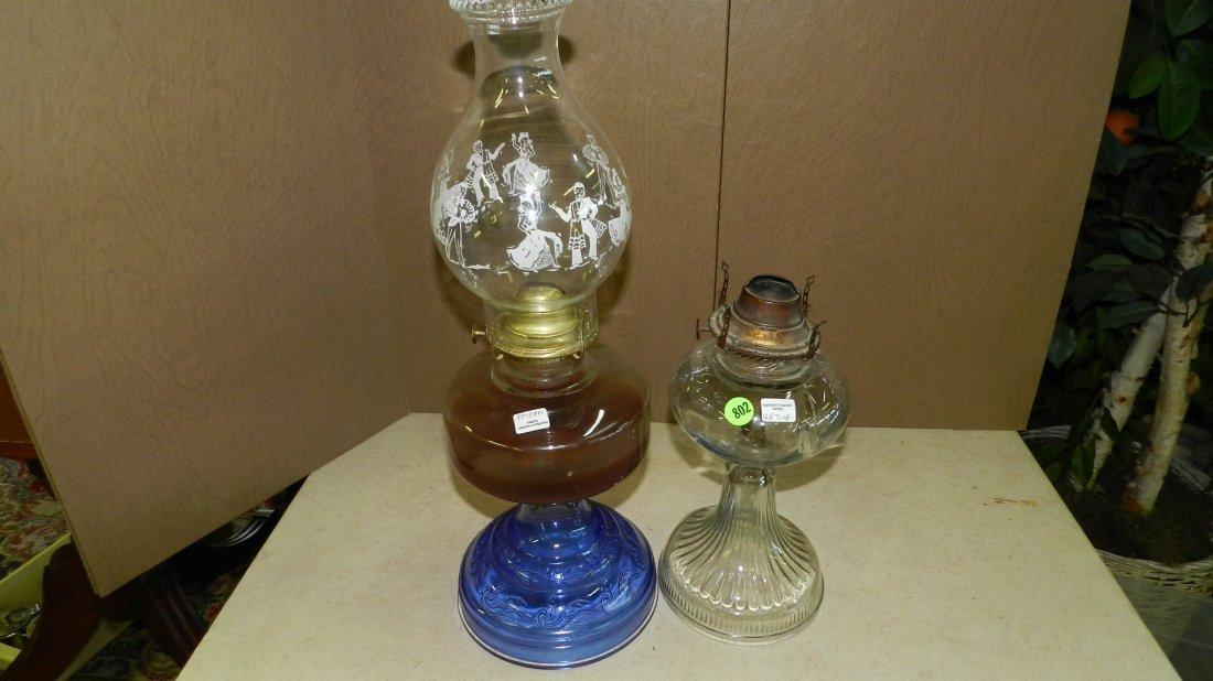 18-23) 2 piece oil lamps