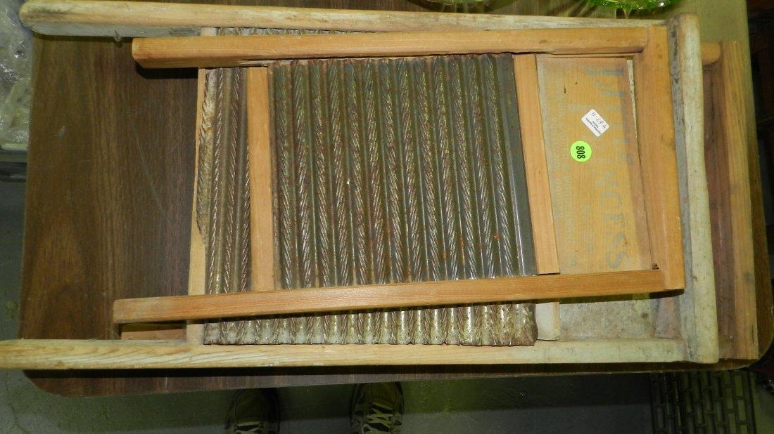 11) group of Primitive wash boards