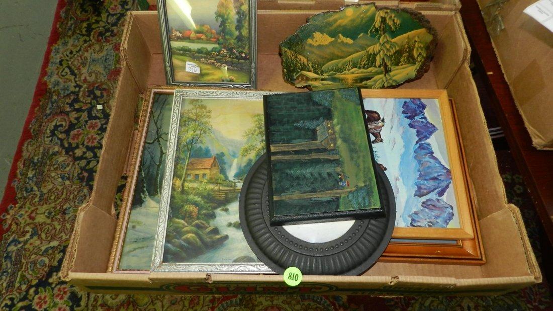 box of vintage / antique prints